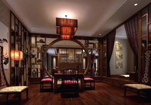 中式别墅卧室书房装修效果图大全