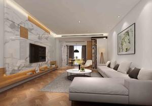 现代日式简约风格客厅装修效果图
