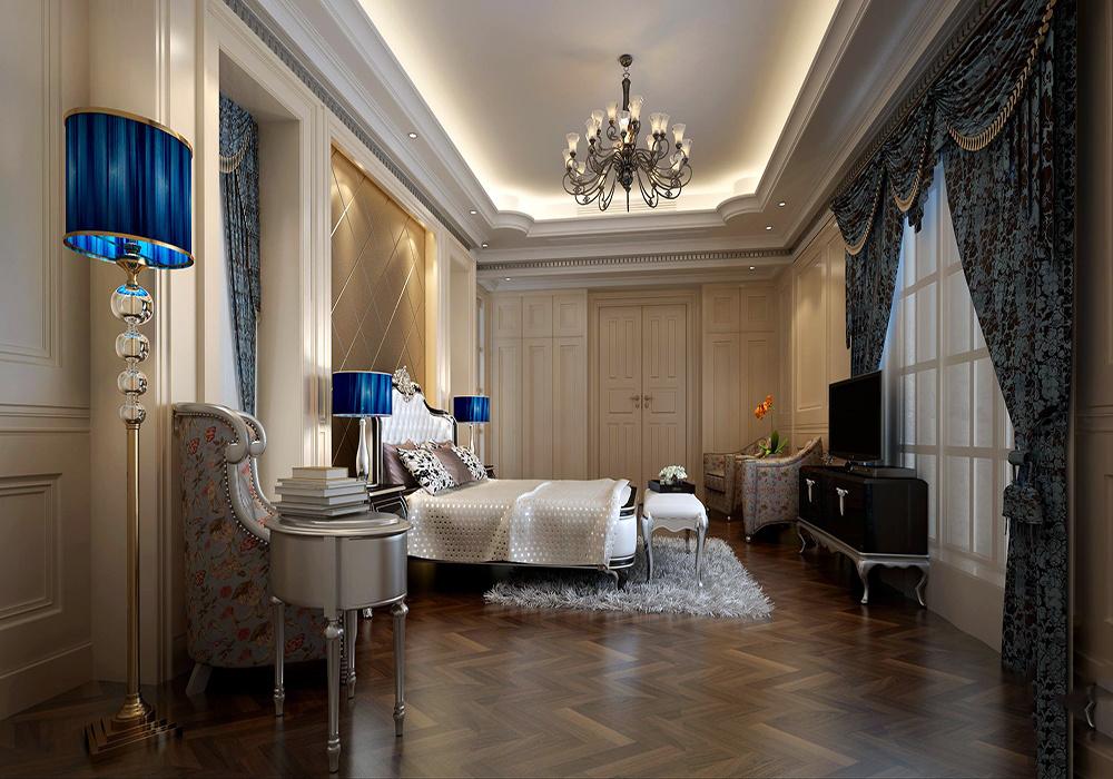 别墅简欧室内走廊吊顶装修效果图大全