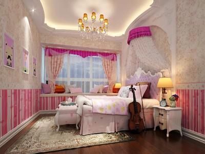 歐式別墅公主臥室裝修效果圖大全