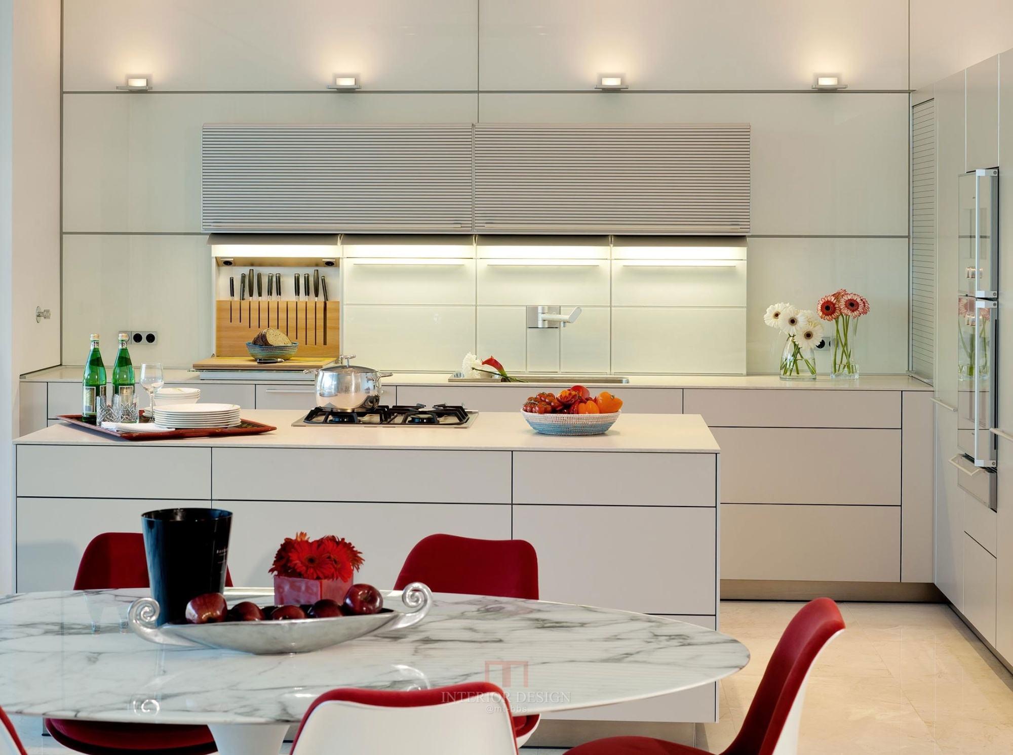 小户型厨房与餐厅一体装修效果图