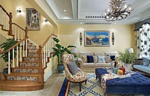 地中海风格家装客厅装修效果图
