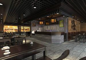 重庆中式快餐小吃店面装修效果图欣赏