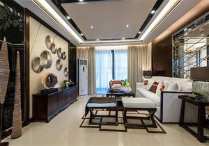 新中式客厅顶部足彩导航设计效果图