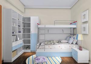90平米简约三居儿童房装修效果图