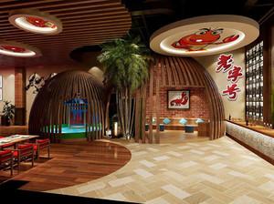 三星级宾馆餐饮大厅装修效果图