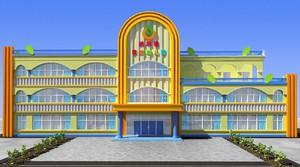 幼儿园大门外墙设计效果图大全