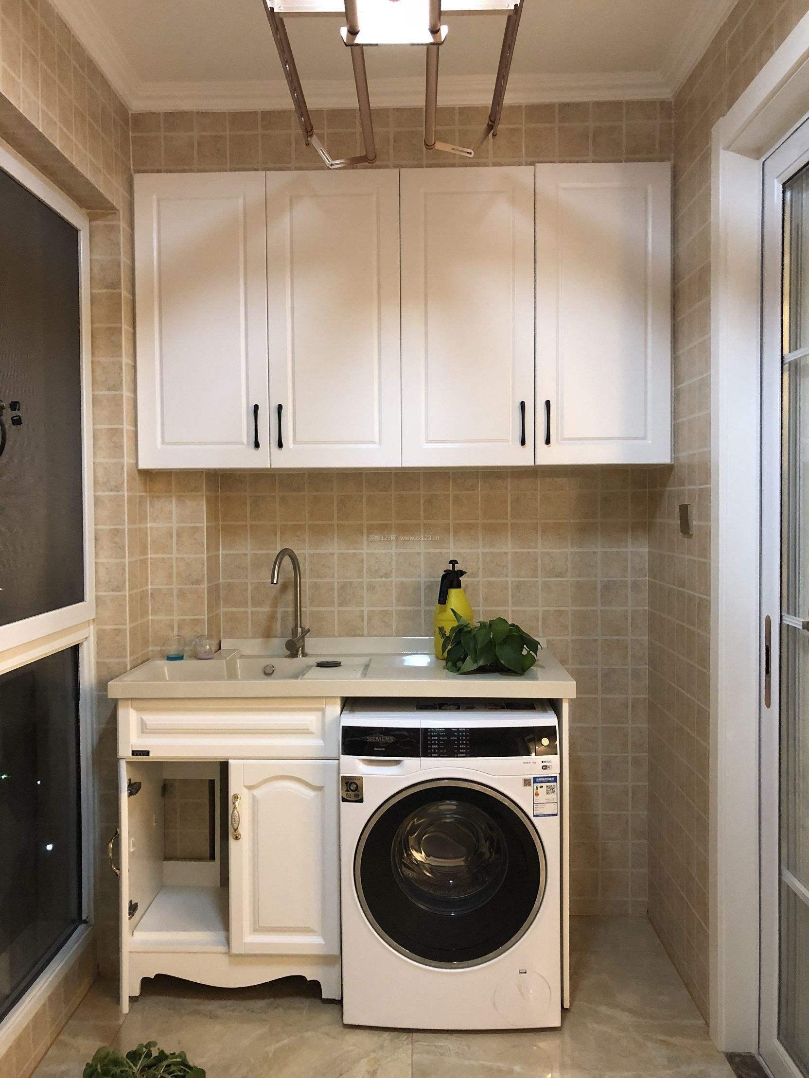 厨房卫生间放洗衣机装修效果图