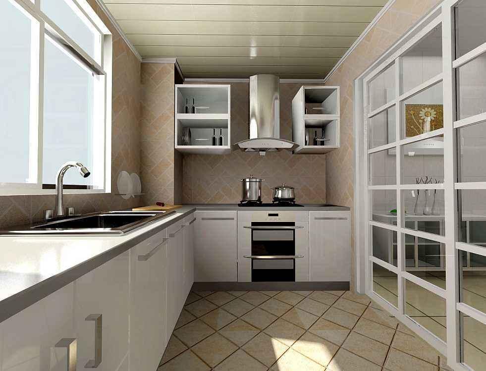 4平方的阳台改厨房装修效果图