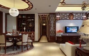 新中式风格客餐厅装修效果图大全