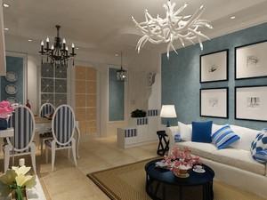 地中海風格家裝客廳裝修效果圖大全
