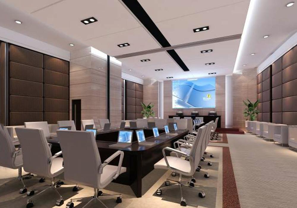 办公室会议室布局设计装修效果图
