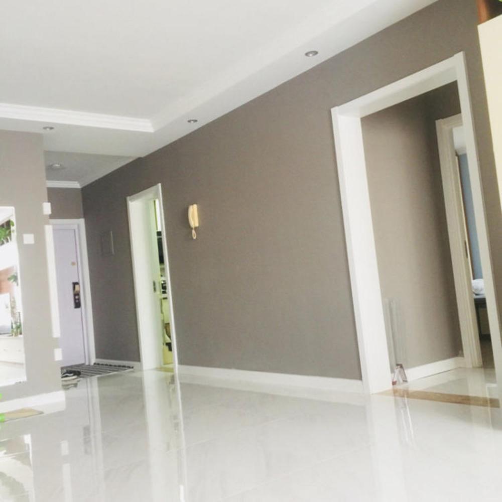 米白色大瓷砖和墙踢脚线一色效果图