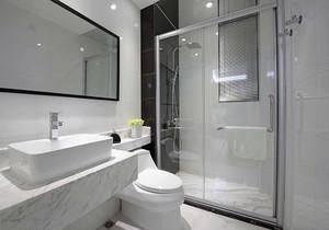 中式灰色瓷砖地砖卫生间干区效果图