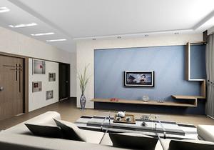 日式硅藻泥沙发背景墙装修效果图大全