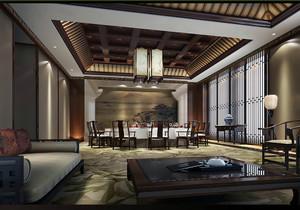 新中式酒店装修效果图