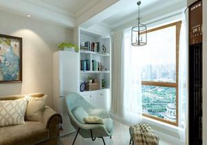 美式客厅带阳台装修效果图欣赏