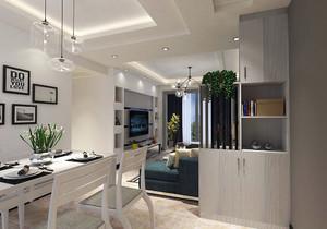 小户型客厅厨房餐厅一体装修效果图