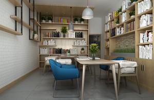 书房 现代 局部 90平米装修