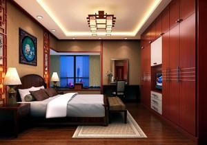 新中式卧室风格效果图,新中式风格大户型装修卧室效果图