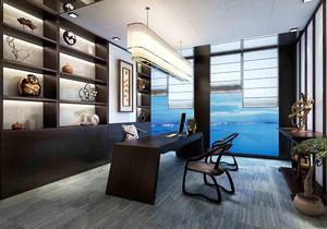 广州高端办公室装修,高端中式装修办公室图片