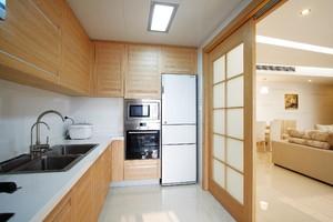 厨房一字型装修效果图,3米的一字型厨房装修效果图