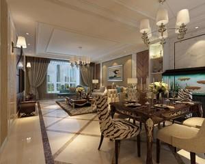 客厅与餐厅连体装饰效果图,连体客厅与小餐厅吊顶效果图