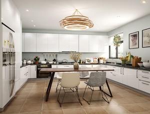 小户型厨房与餐厅一体装修效果图大全