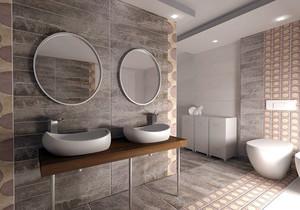 卫生间最新装修效果图,最新款卫生间装修效果图