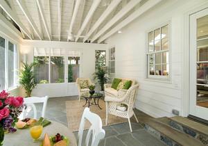 生态木阳台吊顶效果图,客厅阳台生态木吊顶效果图