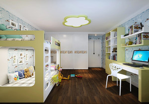 儿童房壁纸装修效果图,儿童房儿童壁纸装修效果图