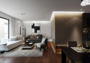 中式简约现代风格装修,现代简约中式装修风格客厅效果图