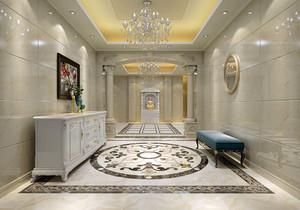 简欧装修走廊玄关效果图,简欧弧形走廊吊顶装修效果图