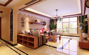 东南亚风格的家装足彩导航效果图,两房两厅东南亚风格足彩导航效果图