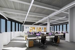 120平米现代简约都市办公室装修效果图