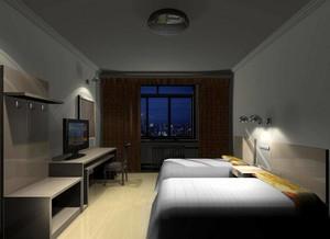 精致輕快的快捷酒店裝修設計效果圖欣賞