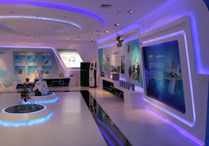 装饰公司展厅装修效果图,装修公司小展厅设计效果图