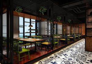 港式茶餐厅装修效果图,港式风格装修茶餐厅效果图