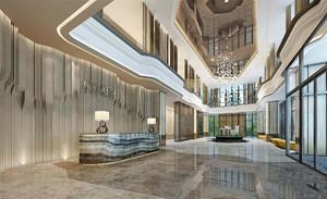 海南售楼部装修效果图,简洁大方的售楼部装修效果图