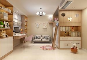 儿童房上下床摆放效果图,北欧儿童房上下床装修效果图大全