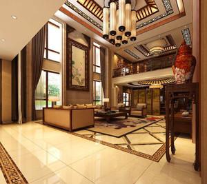 500平方米别墅新中式装修效果图