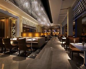现代欧式餐厅吊顶装修效果图效果图