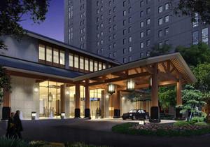 一層商鋪別墅效果圖,一層商鋪二層住宅設計效果圖