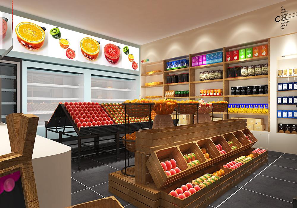 水果店设计平面图,40平米水果店装修平面图