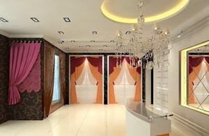 豪华窗帘专卖店效果图,窗帘专卖店装修效果图大全