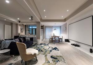 客厅投影仪装修效果图,中式装修客厅投影背景墙效果图