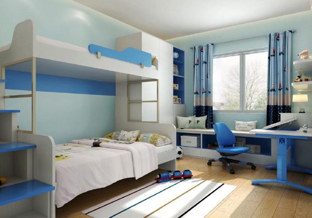 6平米兒童房上下床的效果圖,帶上下床的兒童房設計效果圖