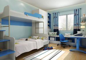 6平米儿童房上下床的效果图,带上下床的儿童房设计效果图