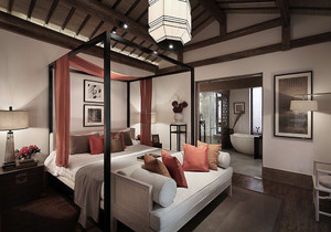 卧室中式装修图片大全,中式别墅卧室装修图片大全