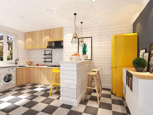 北欧开放式小厨房装修效果图大全